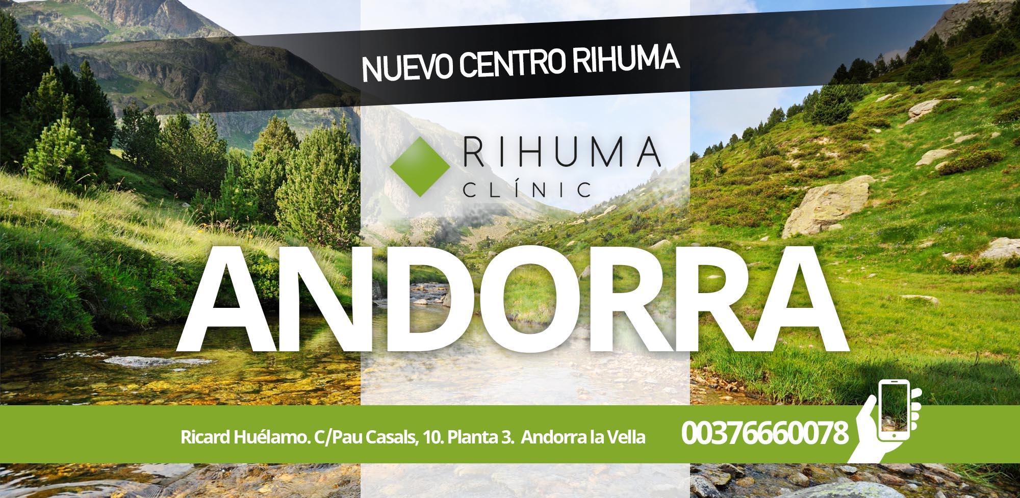 Clínica Rihuma Fisioterapia Ricard Huélamo. C/Pau Casals, 10. Planta 3.  Andorra la Vella