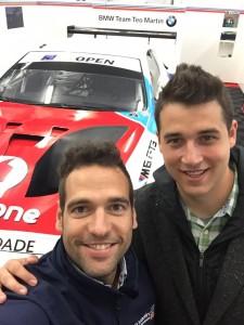 Roldán Rodríguez con Toni Solís de Clínica RIHUMA BMW 2016 Mundial